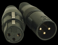 Accu Cable 3 Pin Male & Female XLR Connectors - ACXLR3PSET