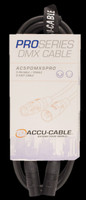 Accu Cable 5 Ft DMX Cable - 5-pin Male to 5-pin Female / AC5PDMX5PRO