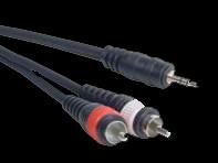 Accu Cable Mini Plug to RCA Cable - 15 Ft