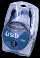 Accu Cable 12 FT USB A to USB B Cable - USBAB12
