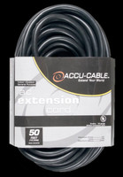 Accu Cable Black AC Grounded Extension Cord - 50 FT 12 Gauge