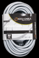 Accu Cable Gray AC Extension Cord - 50 FT 16 Gauge