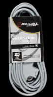 Accu Cable Gray Extension Cord With Triple Tap - 25 FT 16 Gauge