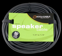 "Accu Cable S-5016 1/4"" to 1/4"" Jack Speaker Cable - 50 Ft 16 Gauge"