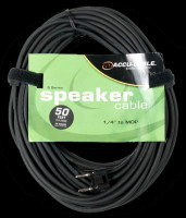 "Accu Cable S-5016B 1/4"" Jack To MDP Speaker Cable - 50 Ft 16 Gauge"