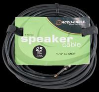 Accu Cable SK-2514B Speakon to Banana Speaker Jack - 25 Ft, 14 Gauge