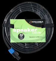 Accu Cable SK-5012B Speakon to Banana Jack / 50 FT 12 Gauge