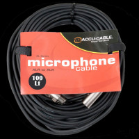Accu Cable XL-100 XLR M/F Microphone Cable - 100Ft