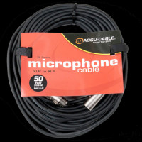Accu Cable XL-50 XLR M/F Microphone Cable - 50 Ft