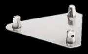 "Global Truss 8.5"" x 8.5"" Aluminum Mini Triangular Truss Base Plates"