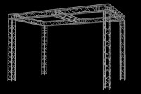 "Global Truss 12"" 10' X 20' Trade Booth Truss System w/ Cross Section"