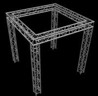 "Global Truss 12"" Box Truss 10'x10' Trade Show Booth Truss System"