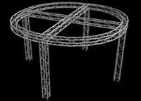 "Global Truss 12"" Box Truss 12'x12' Circular Trade Booth Truss System"