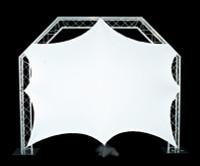 """Global Truss 8'5""""x 8'5"""" White Stretch Video Screen"""