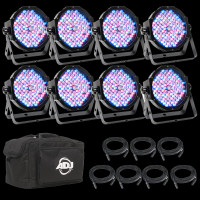 ADJ Mega Flat Pak 8 Plus 8 Light LED Par Can Lighting Package