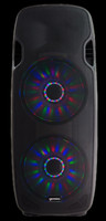 "Gemini AS-215BLU-LT Active Dual 15"" Speaker w/ LED Array / Bluetooth"