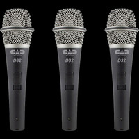 CAD D32 Supercardioid Dynamic Vocal Microphone w/ On / Off / 3 Pack