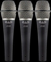 CAD D38 CADLive Supercardioid Instrument Microphones / 3-Pack