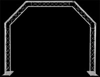 Global Truss Mobile DJ Goalie Post 5 Sided Archway / 10' x 8'