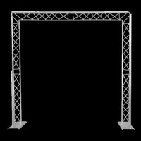 Global Truss Mobile DJ Goalie Post Truss System / 8' x 8'