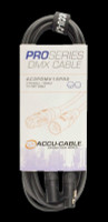 Accu Cable 15 Ft 3 Pin DMX PRO Cable / AC3PDMX15PRO