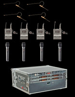 Airwave AT-RS4 Wireless Microphone 4 Channel Wireless System Package