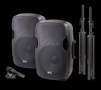 Gemini PA-SYS15 - 15″ Dual Passive Loudspeaker PA System Package