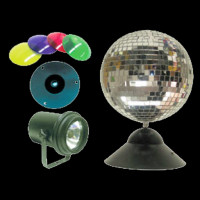 ADJ MB-8 Combo Disco Mirror Ball / Motor and Pin Spot Lighting Package