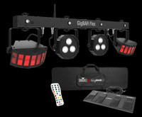 Chauvet DJ GigBar Flex LED Par Can / Derby Effect Lighting Package