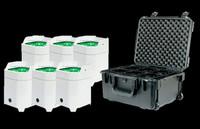 ADJ Element HEX Pearl IP PC6 Pak IP54 Battery PWD LED Par Can Package / Wireless DMX