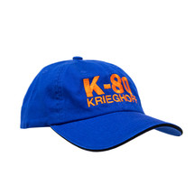 du Pont Krieghoff Unstructured K-80 Hat, Royal with Orange Logo