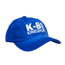 du Pont Krieghoff Unstructured Spray Washed K-80 Hat, Royal with Stone Logo