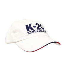 du Pont Krieghoff Unstructured K-20 Hat, White with Navy Logo