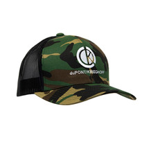 du Pont Krieghoff Trucker Hat, Camo with Black Back, Stone Logo