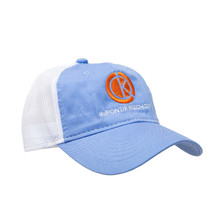 du Pont Krieghoff Unstructured Hat, Iris with White Mesh Back, Orange Logo