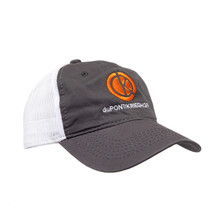 du Pont Krieghoff Unstructured Hat, Charcoal with White Mesh Back, Orange Logo