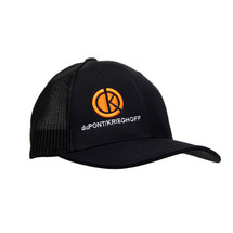 du Pont Krieghoff Black Fitted Flexfit Hat with Black Back