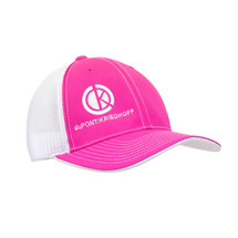 du Pont Krieghoff Pink Fitted Flexfit Hat with White Back