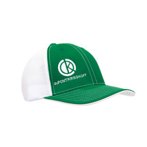 du Pont Krieghoff Green Fitted Flexfit Hat with White Back