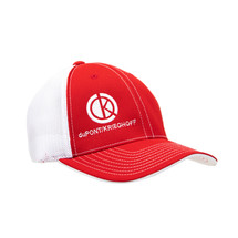 du Pont Krieghoff Red Fitted Flexfit Hat with White Back