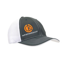 du Pont Krieghoff Grey Fitted Flexfit Hat with White Back