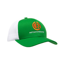 du Pont Krieghoff Trucker Hat, Green with White Back, Orange Logo