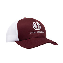 du Pont Krieghoff Trucker Hat, Maroon with White Back, White Logo