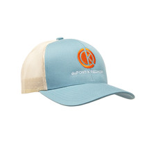 du Pont Krieghoff Trucker Hat, Robin with Khaki Back, Orange Logo