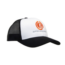 du Pont Krieghoff Trucker Hat, White with Black Back, Orange Logo