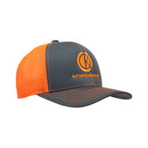 du Pont Krieghoff Trucker Hat, Grey with Orange Back, Orange Logo