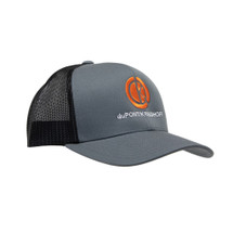 du Pont Krieghoff Trucker Hat, Grey with Black Back, Orange Logo