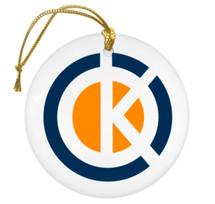 dK Christmas Ornament