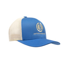 du Pont Krieghoff Trucker Hat, Blue with Beige Back, Beige Logo
