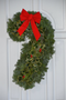 Left facing Candy Cane wreath.